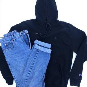 Champion Reverse Weave Hoodie All Black MEDIUM